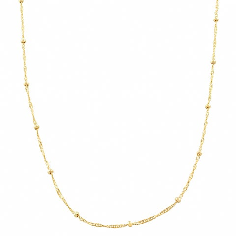 Fremada 10k Yellow Gold 1.9-mm Singapore Saturn Necklace (16 - 20 inches)