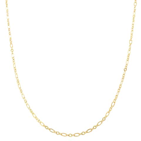 Fremada 10k Yellow Gold 1.7mm Flat Figaro Necklace (16 - 20 inches)
