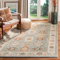 Safavieh Handmade Heritage Timeless Traditional Rust/ Beige Wool Rug - 2' x 3'