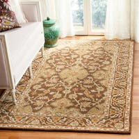 Safavieh Handmade Classic Brown/ Brown Wool Rug - 4' x 6'