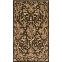 Safavieh Handmade Classic Brown/ Brown Wool Rug - 3' x 5'