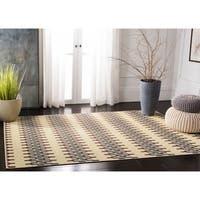 Safavieh Hampton Indoor/ Outdoor Stain Resistant Light Blue/ Green Area Rug - 2'7 x 5'