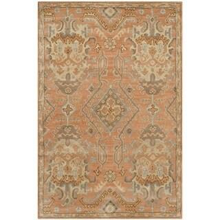 Safavieh Handmade Wyndham Terracotta Wool Rug (4' x 6')