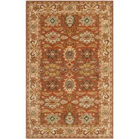 Safavieh Handmade Heritage Timeless Traditional Rust/ Beige Wool Rug (5' x 8')