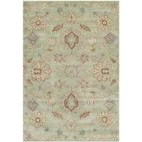 Safavieh Handmade Wyndham Light Green Wool Rug - 5' x 8'