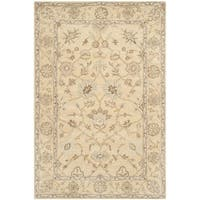 Safavieh Handmade Wyndham Light Gold/ Light Gold Wool Rug - 5' x 8'