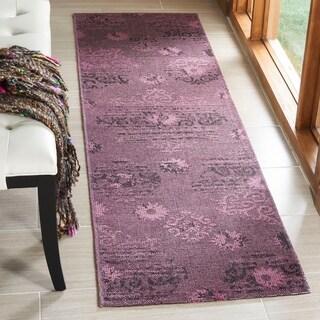 Safavieh Palazzo Black/ Purple Overdyed Chenille Runner Rug (2' x 7'3)