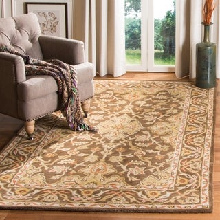 Safavieh Handmade Classic Brown/ Brown Wool Rug - 2'3 x 8'