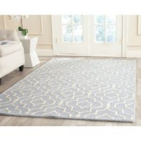 Safavieh Handmade Moroccan Cambridge Rectangular Light Blue/ Ivory Wool Rug - 8' x 10'