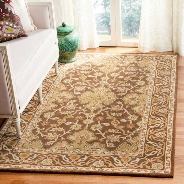 Safavieh Handmade Classic Brown/ Brown Wool Rug - 8' x 10'