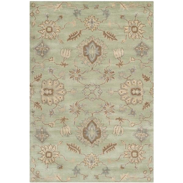 Safavieh Handmade Wyndham Light Green Wool Rug - 8' x 10'