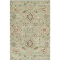 Safavieh Handmade Wyndham Light Green Wool Rug - 8' X 10'