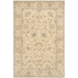 Safavieh Handmade Wyndham Light Gold/ Light Gold Wool Rug (8' x 10')