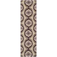 Safavieh Hand-Hooked Four Seasons Beige/ Purple Polyester Runner - 2'3 x 8'
