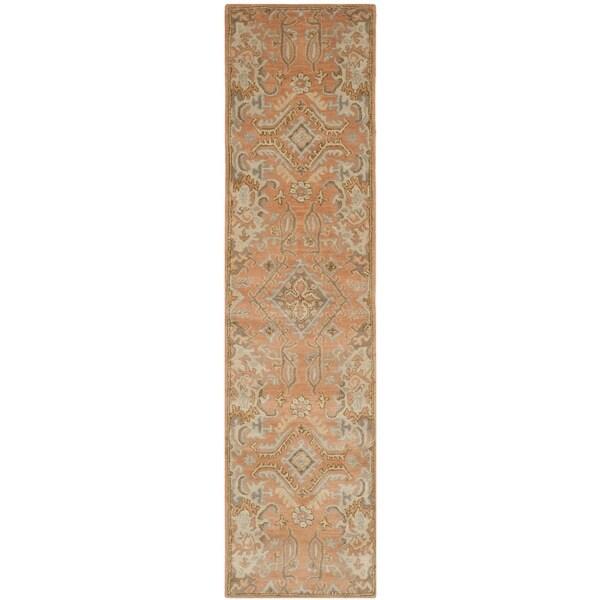 "Safavieh Handmade Wyndham Terracotta Wool Rug - 2'3"" x 9'"