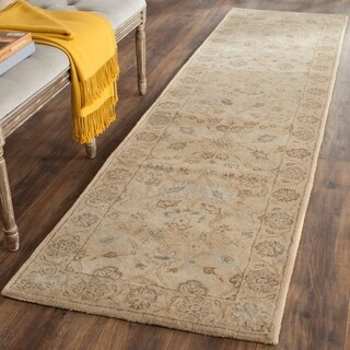 Safavieh Handmade Wyndham Light Gold/ Light Gold Wool Rug (2'3 x 9')