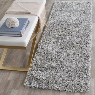Safavieh Handmade Malibu Shag Silver Polyester Rug (2'3 x 11')