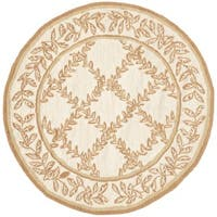Safavieh Hand-hooked Chelsea Ivory/ Camel Wool Rug - 3' x 3' round