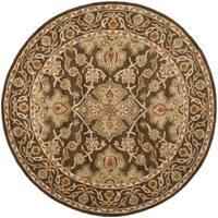 Safavieh Handmade Classic Brown/ Brown Wool Rug - 6' Round