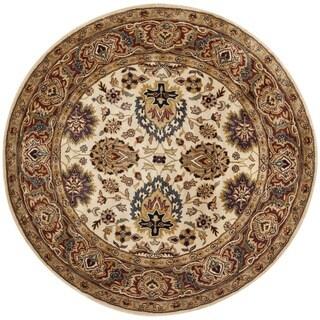 Safavieh Handmade Persian Legend Ivory/ Rust Wool Rug (6' Round)