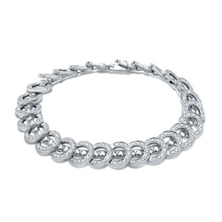 Auriya 14k White Gold 2ct TDW Chain Link Diamond Bracelet (H-I, SI1-SI2)