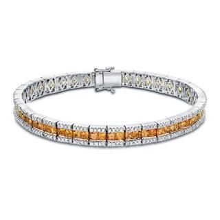 Auriya 14k Gold 2ct TW Yellow Sapphire and Diamond Tennis Bracelet (H-I, SI1-SI2)|https://ak1.ostkcdn.com/images/products/8594117/Auriya-14k-Gold-2ct-TW-Yellow-Sapphire-and-Diamond-Tennis-Bracelet-H-I-SI1-SI2-P15864870.jpg?impolicy=medium