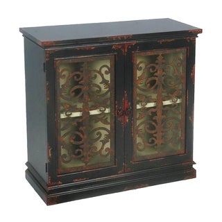 Distressed Black Finish Accent Chest