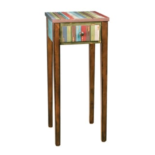 Distressed Vintage Chestnut Finish Accent Table