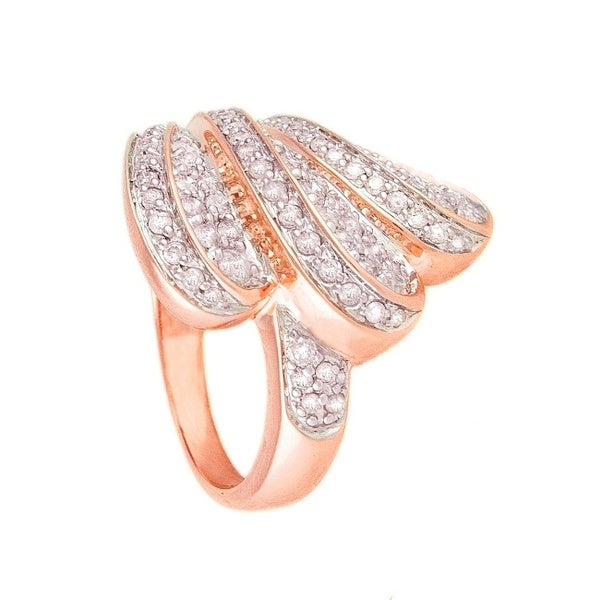 Beverly Hills Charm 14k Rose Gold 1ct TDW Diamond Wing Ring (H-I, I2-I3)