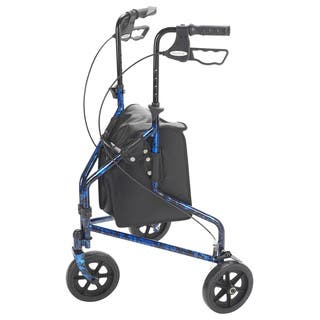 Drive Medical 3-wheel Flame Blue Walker Rollator with Basket Tray and Pouch|https://ak1.ostkcdn.com/images/products/8594226/P15865030.jpg?impolicy=medium