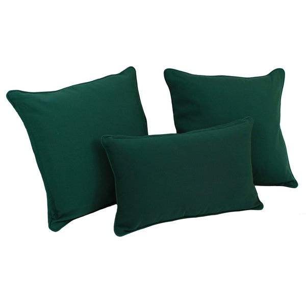 Copper Grove Elk Island Solid Twill Throw Pillows (Set of 3)