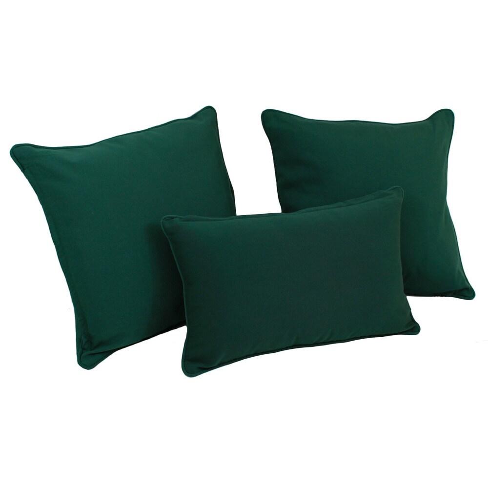 Blazing Needles Solid Twill Throw Pillows (Set of 3)