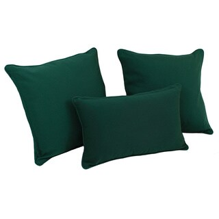 Blazing Needles Solid Twill Throw Pillows (Set of 3)