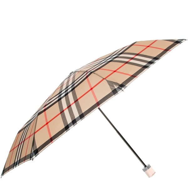2901f718917d Shop Burberry Camel Check Folding Umbrella - Free Shipping Today ...