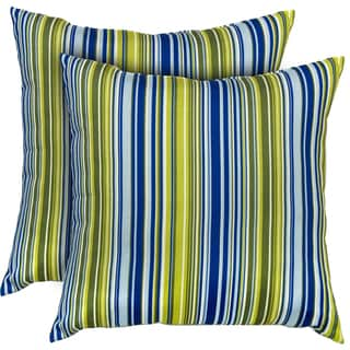 Vivid Stripe Indoor Accent Pillows (Set of 2)