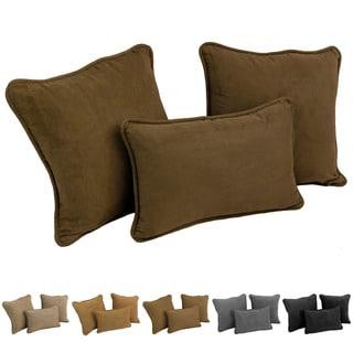 Blazing Needles Delaney 3-Piece Microsuede Pillow Set (Set of 3)