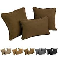 Blazing Needles 3-Piece Microsuede Pillow Set (Set of 3)