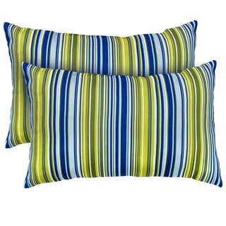 Vivid Stripe Rectangle Indoor Accent Pillows (Set of 2)