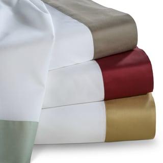 Contrast Border Cotton Sateen 400 Thread Count Sheet Set