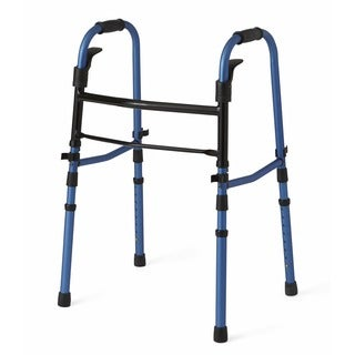 Medline Compact Folding Walker with Paddle Release