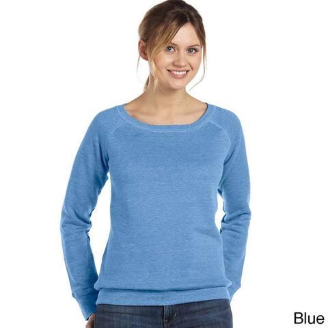 Women's 'Bella' Tri-blend Wide Neck Sweatshirt