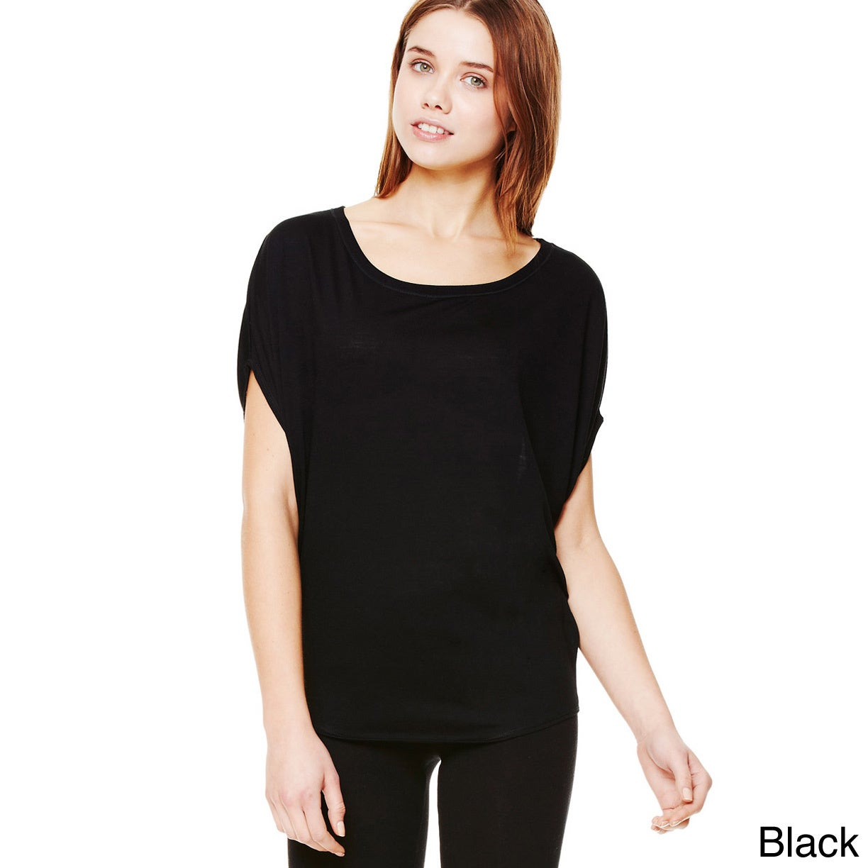 Women's 'Bella' Flowy Circle Top (Black XL) (polyester, S...