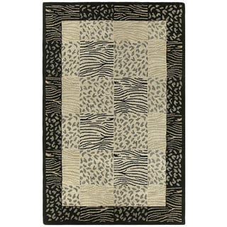 "Hand-tufted Lawrence Multi Print Wool Rug (9'6 x 13') - 9'6"" x 13'"
