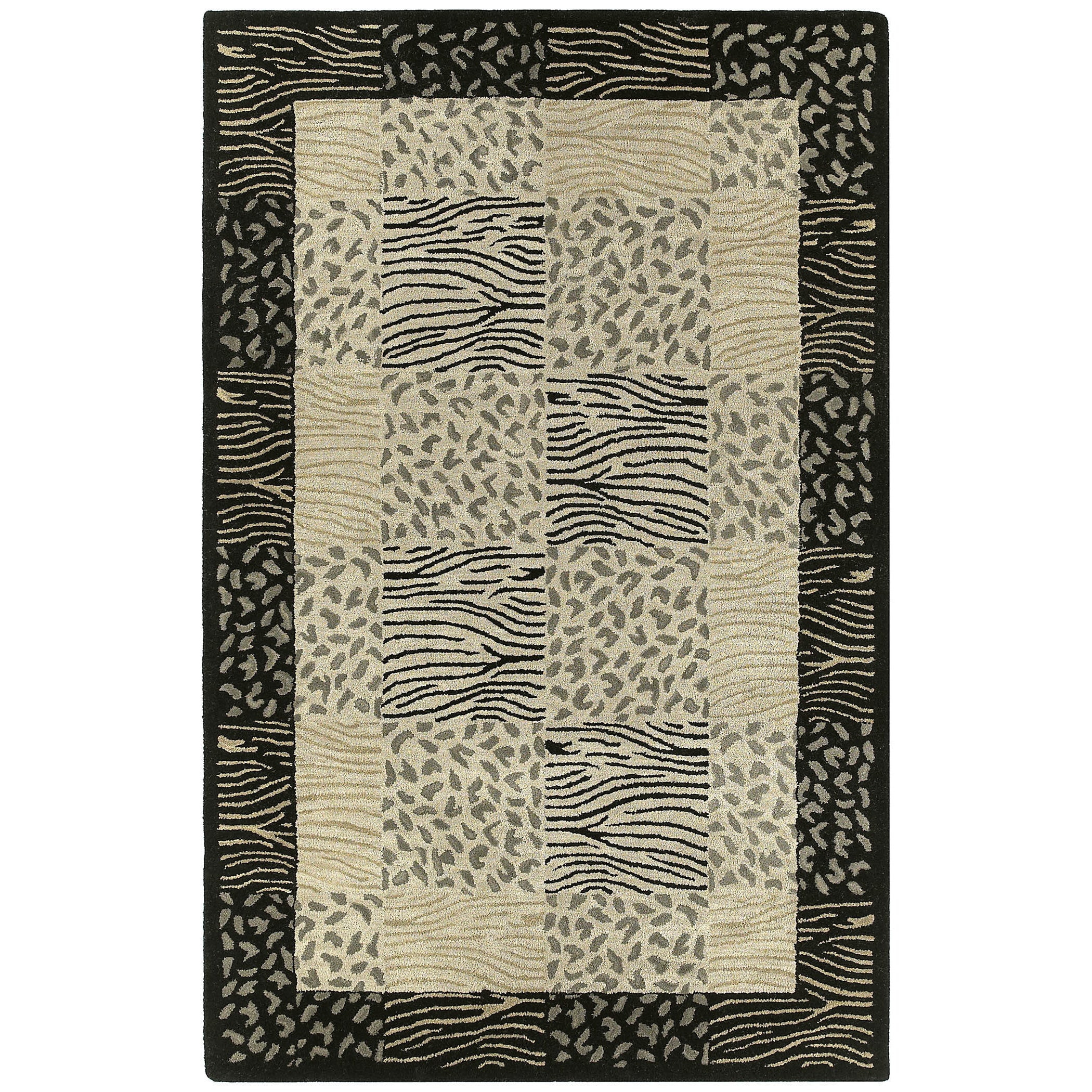 Bombay Home Hand-tufted Lawrence Multi Print Wool Rug (9'...