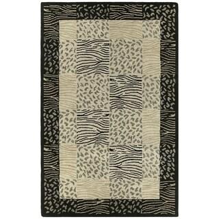 Hand-tufted Lawrence Multi Print Wool Rug (2' x 3')