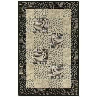 Hand-tufted Lawrence Multi Print Wool Rug (5' x 7'9)