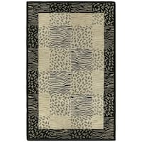 Hand-tufted Lawrence Multi Print Wool Rug - 5' x 7'9