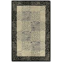 Hand-tufted Lawrence Multi Print Wool Rug (5' x 7'9) - 5' x 7'9