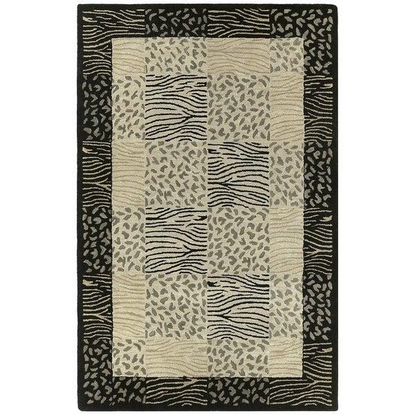 Hand-tufted Lawrence Multi Print Wool Rug (8' x 11') - 8' x 11'