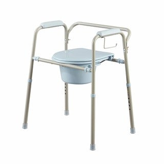 Medline Folding Commode with Microban Antimicrobial Product Protection